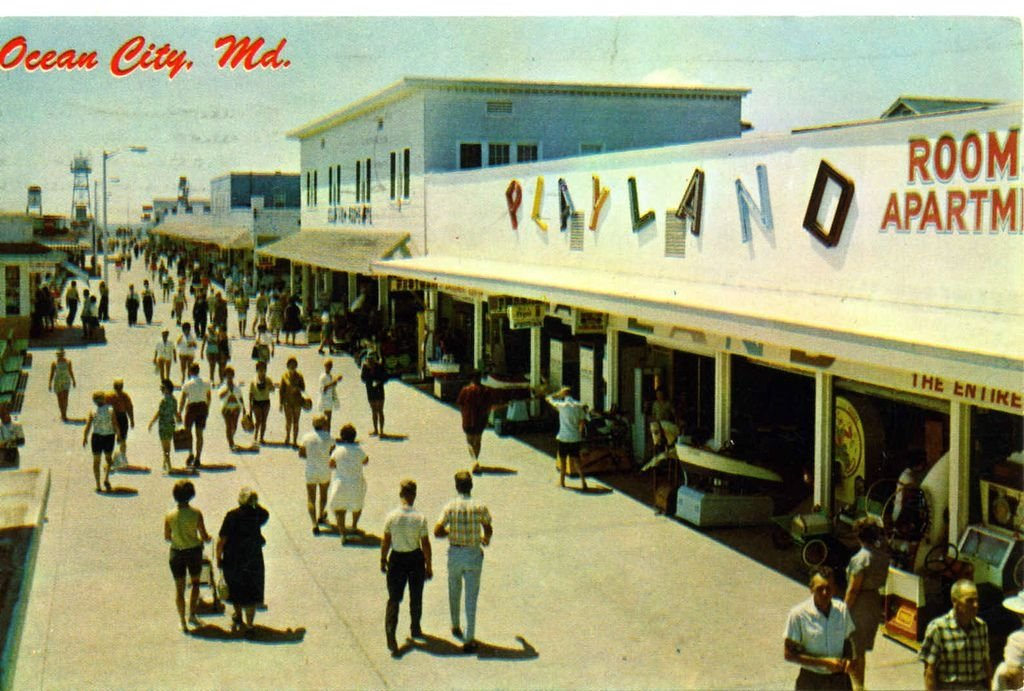 Ocean city board walk 1950