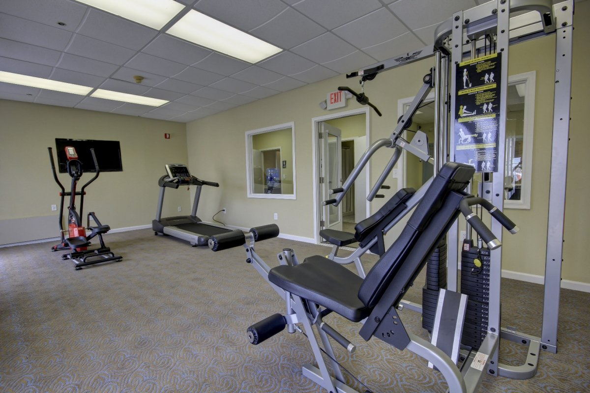 room with fitness equipment