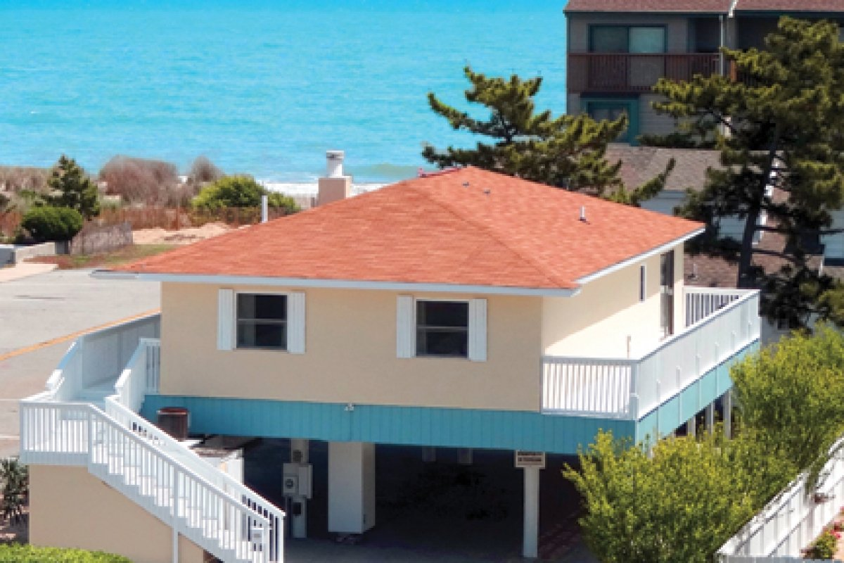 exterior of beach house exterior